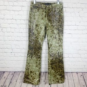ReVolt Snakeprint Flared Bootcut Pants